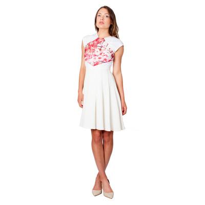 Tetiana K Women's Overlay Top, White