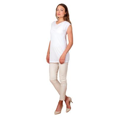 Tetiana K Women's Asymmetrical Yoke Top, White