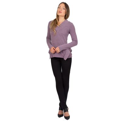 Tetiana K Women's Hip Accent Sweater, Purple