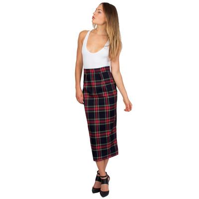 Tetiana K Women's Wool Midi Skirt, Tartan