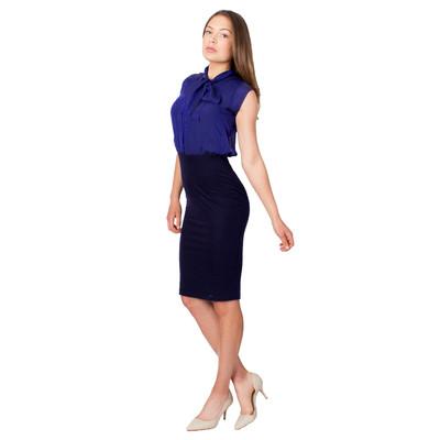 Tetiana K Women's Silk And Tencel Bow Dress, Navy