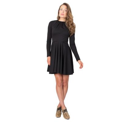 Tetiana K Women's Flared Dress With Pockets, Black