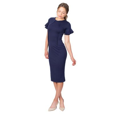 Tetiana K Women's Inverted Darts Midi Dress, Navy