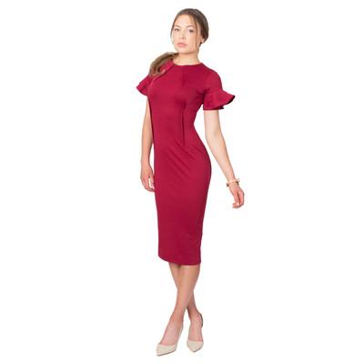 Tetiana K Women's Inverted Darts Midi Dress, Red