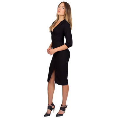 Tetiana K Women's Buttoned Up Dress, Black