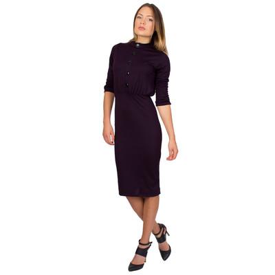 Tetiana K Women's Buttoned Slip On Dress, Dark Purple