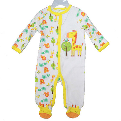 Baby Interlock Cotton Sleeper - Yellow