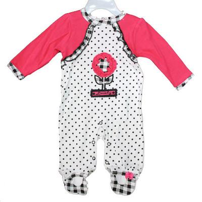 Baby Interlock Cotton Sleeper - Pink