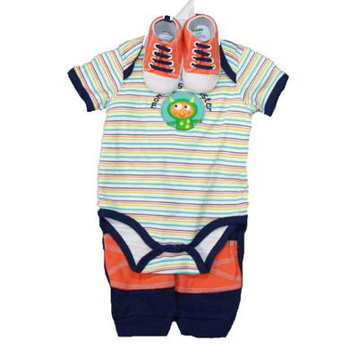 Baby 3 Piece Sneaker Set - Blue