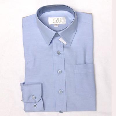 Boy's Blue Oxford Dress Shirt - Blue