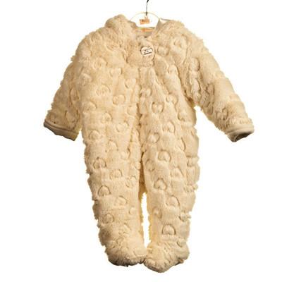 Baby Heart Embossed Fur Pram