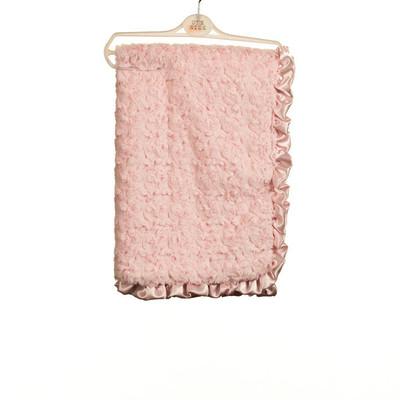 Baby Rosebud Fur Blanket - Pink
