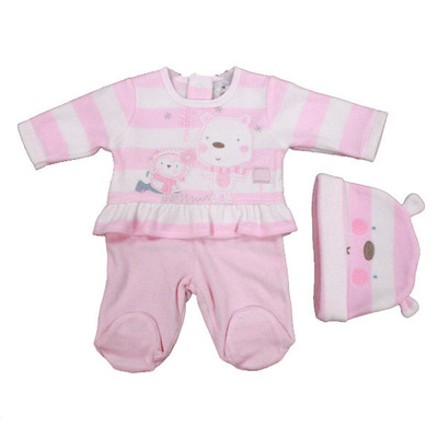 Baby 3 Pc. Microfleece Set - Pink