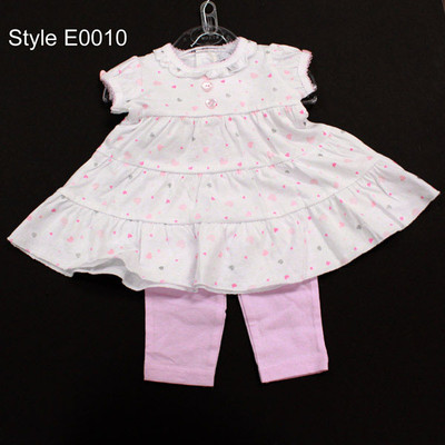 Baby 2 Piece Dress with Leggings - Pink