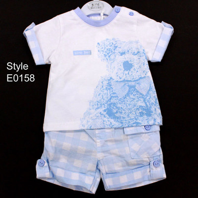 Baby 2 Piece T-Shirt and Short Set - Blue