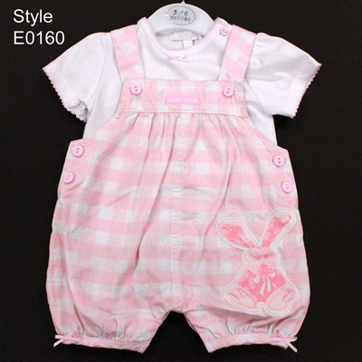 Baby 2 Piece T-Shirt with Romper Set - Pink