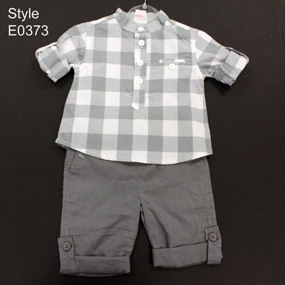 Boy's Shirt With Trousers - Grey