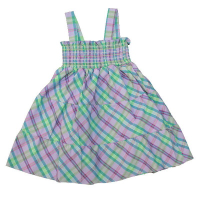 Girl's Purple & Green Plaid Sun Dress