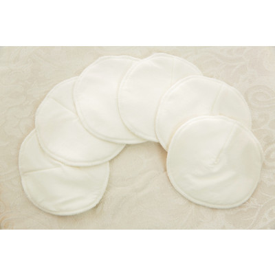Washable Organic cotton nursing pads with waterproof layer -3pairs