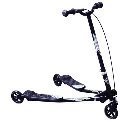 Kids Children 3 Wheel Tri Speeder Scooter Push Tri Motion Foldable Black