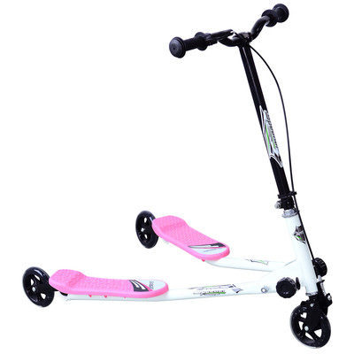 Kids Children 3 Wheel Tri Speeder Scooter Push Tri Motion Foldable Pink