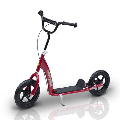 "Adjustable Kids Children Pro Stunt Scooter Ride On With 12"" Tire Red"