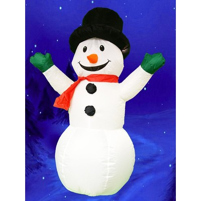 4 feet tall Inflatable Holiday Outdoor Snowman with build-in LED light