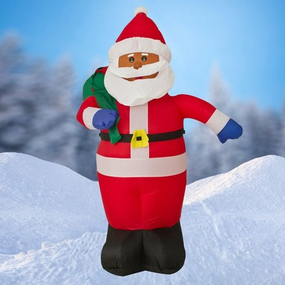 6 feet tall Inflatable Holiday Outdoor Santa with build-in LED light