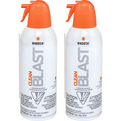 WHOOSH!  CleanBlast compressed gas electronics duster -10oz - 2 Pack