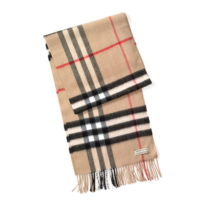 Burberry Inspired Pashmina Plaid Scarf - Beige