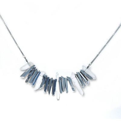 Armoir Bacopa 'Aura and Silver Plated Quartz' Ladies Necklace