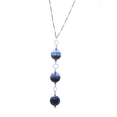 "Armoir Bacopa ""Sardonyx Stone' Hanging Necklace"