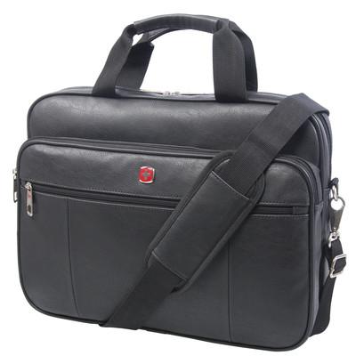 """Swiss Gear Faux Leather 15.6"""" Top Load"""