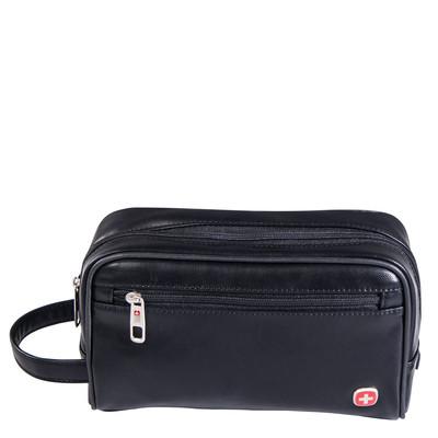 Swiss Gear Faux Leather Deluxe Toiletry Bag