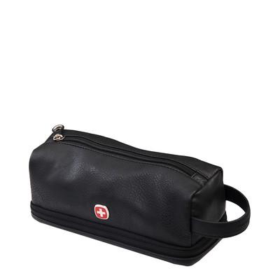 Swiss Gear Faux leather carry-on Toiletry Bag w/ Zip bottom
