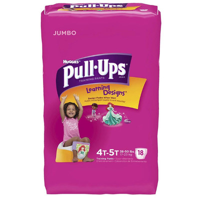 Huggies Pull-Ups Training Pants - 4T-5T Girls 18 Diapers - Size 4T-5T - Girls