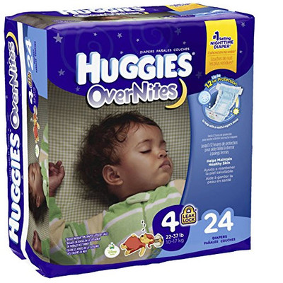 Huggies Overnites - 24 Diapers - Size 4 - Up to 12hr protection