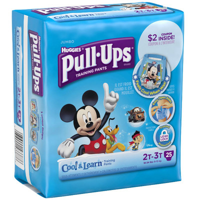 Huggies Pull-Ups Cool & Learn - 25 Diapers - Size 2T-3T - Boys