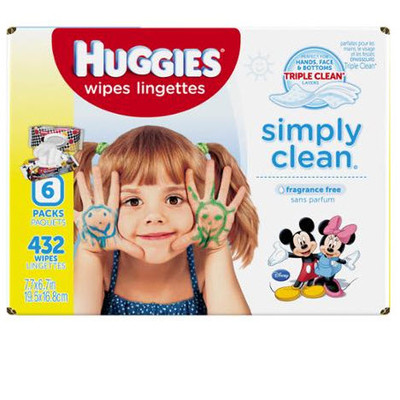 Huggies Simply Clean Wipes - Refill 432 Wipes - Unscented