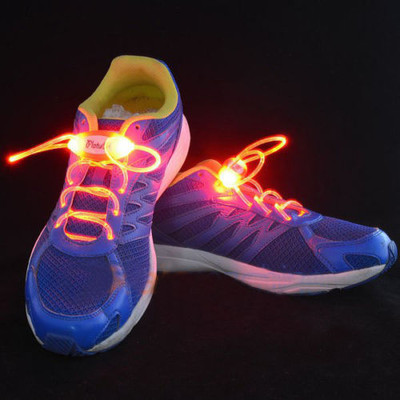 Light-Up LED Flash Waterproof Glow Shoelaces Strings - Red