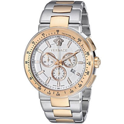 Versace Men's VFG130015 Mystique Sport Two-Tone Gold Ion-Plated and Stainless Steel Watch
