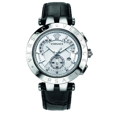 Versace Men's 23C99D002 S009 'V-Race' Watch with Leather Band