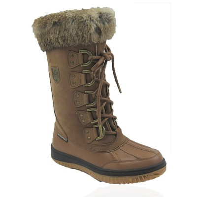 Comfy Moda Women's Winter Boots Arctic Leather & Waterproof #6-11 in Tan