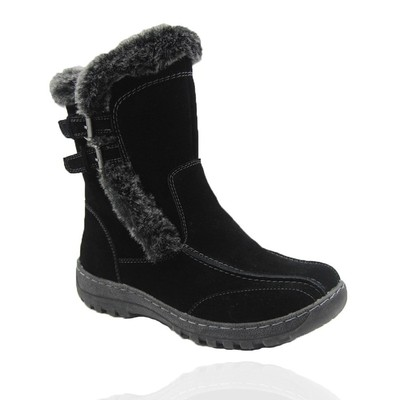 Comfy Moda Women's Winter Boots Berlin Suede Leather #6-12 in Black