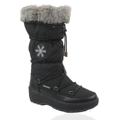 Comfy Moda Women's Winter Boots Montana Waterproof Leather & Nylon #6-11 in Black
