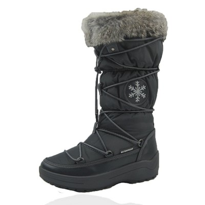 Comfy Moda Women's Winter Boots Montana Waterproof Leather & Nylon #6-11 in Grey