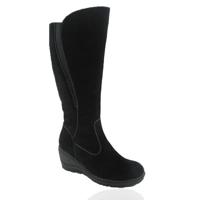 Comfy Moda Women's Winter Boots Prague Suede Leather in Black