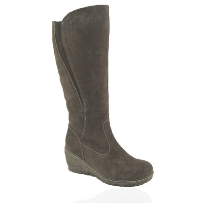 Comfy Moda Women's Winter Boots Prague Suede Leather in Taupe