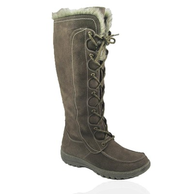 Comfy Moda Women's Winter Boots Warsaw Suede Leather in Taupe