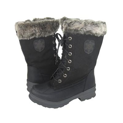 Women Winter Boots Comfy Moda Blizzard Wool Lining in Black